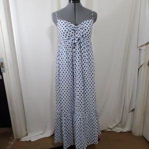 J. CREW  Blue, White Sundress  Size M